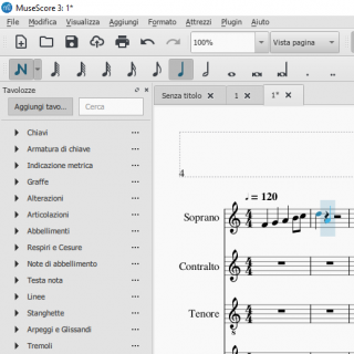 Spartiticorali MuseScore note