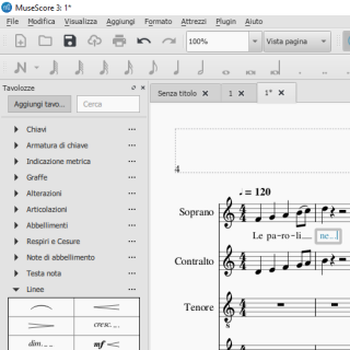 Spartiticorali MuseScore versi