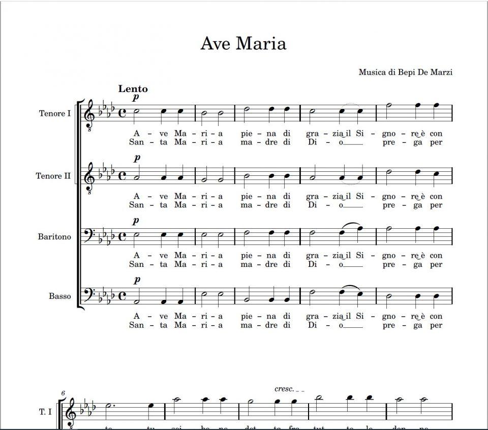 Ave Maria (Bepi De Marzi).